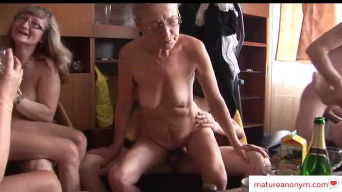 All mature orgy at home