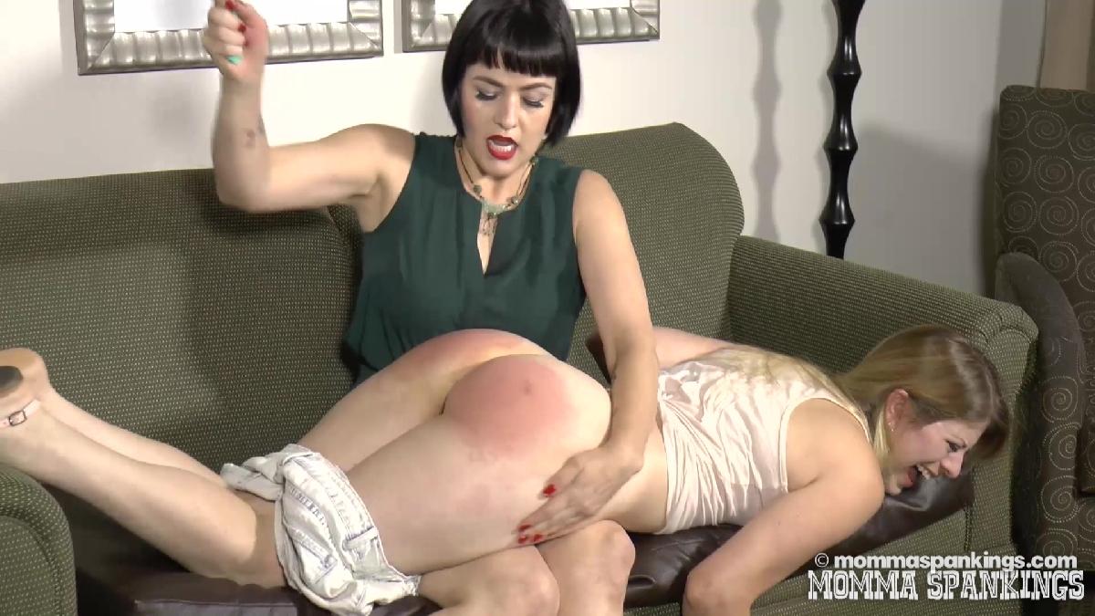 posh mature lady spanking her au pair girl #5