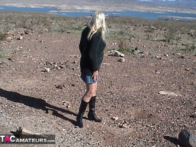 old horny gilf exposed her sweet vag during a countrysite trip #5