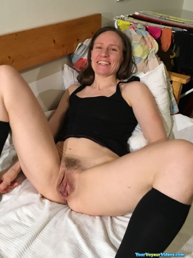 skinny german mature wife shows her tasty big opend cunt in closeup  #2