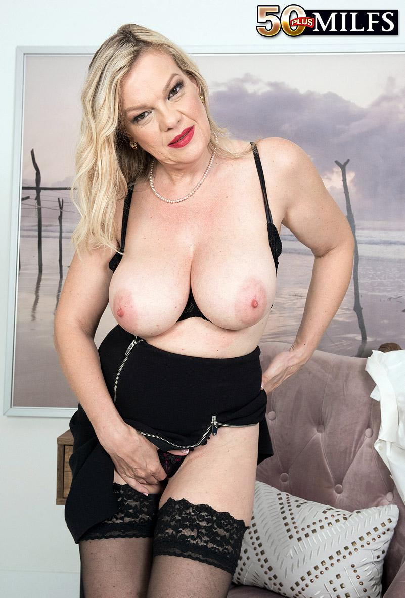 Lena Lewis, a 50 years old busty mature women spreading her legs picture 11