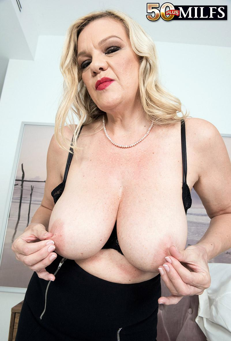 Lena Lewis, a 50 years old busty mature women spreading her legs picture 10