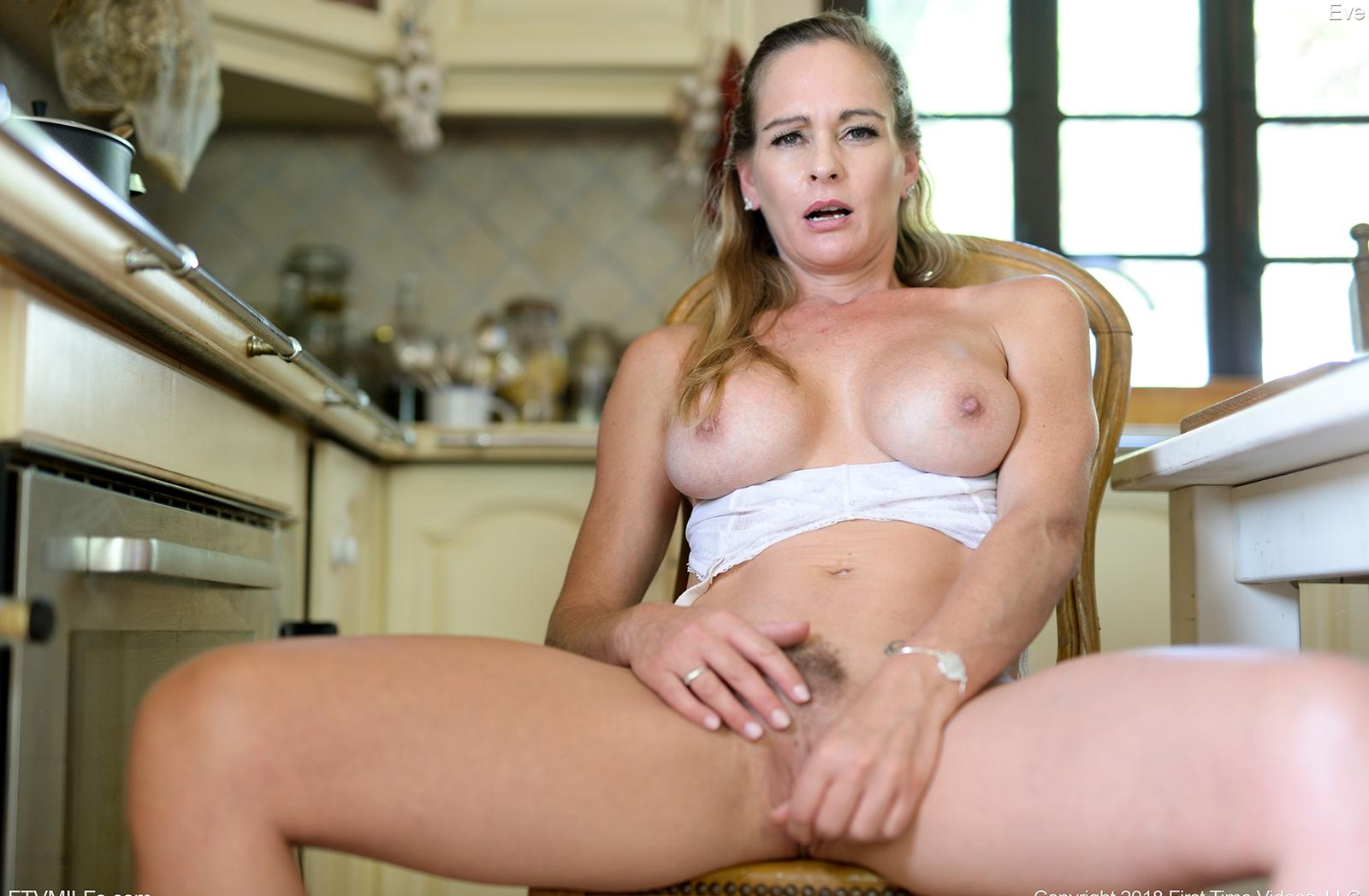 kinky french mom puts something dirty between her legs picture 15