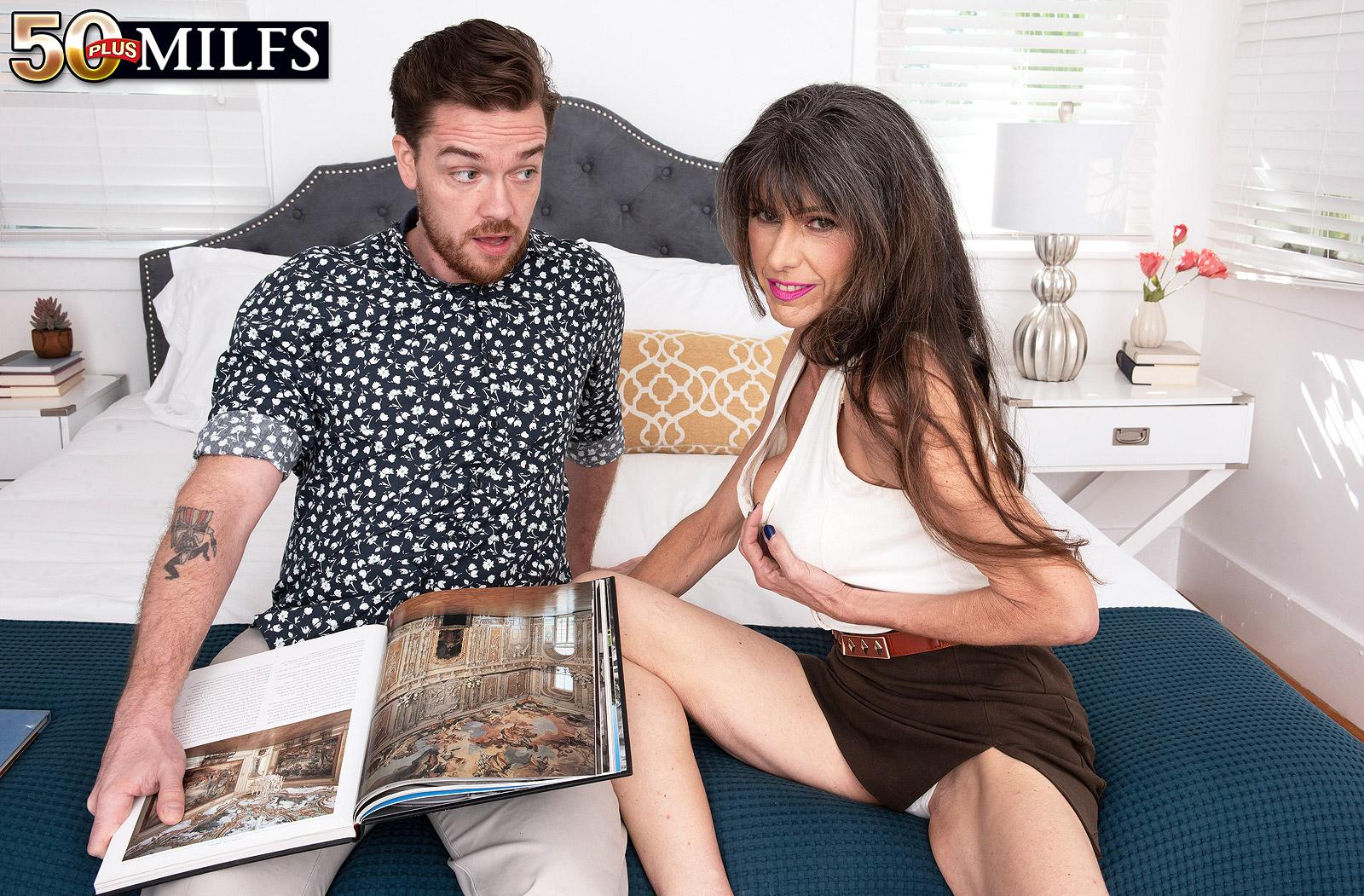 sweet mature Beth Sinkati spending a fine anal hour with her younger lover picture 7