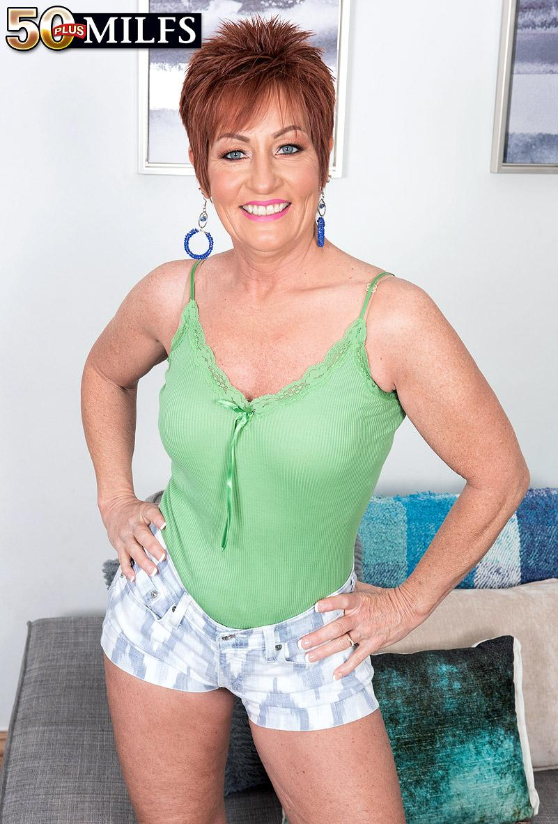 chunky hot ole redhead mature is excited by the huge size of her black sugarboy picture 3