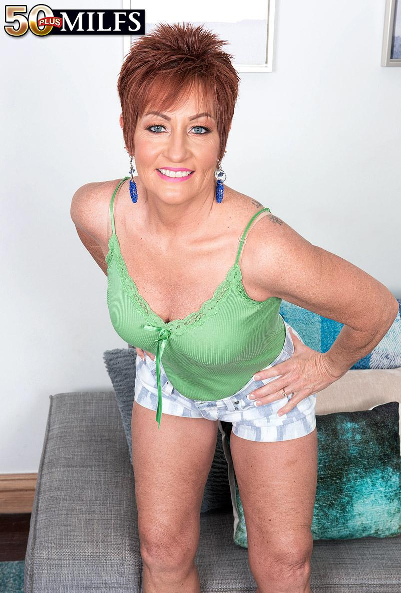 chunky hot ole redhead mature is excited by the huge size of her black sugarboy picture 4