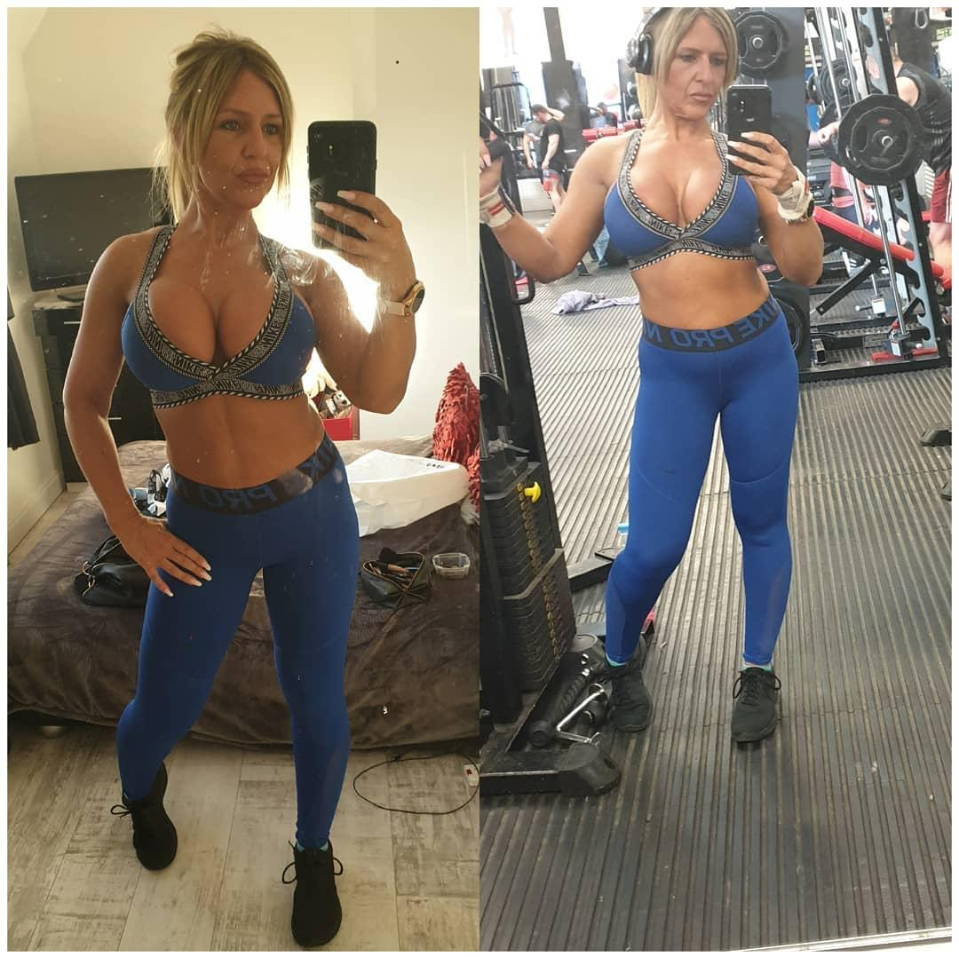 british soccer mom flaunting her stunning rack and fitness body picture 2