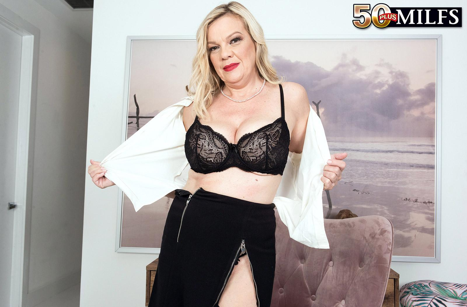 Lena Lewis, a 50 years old busty mature women spreading her legs picture 4