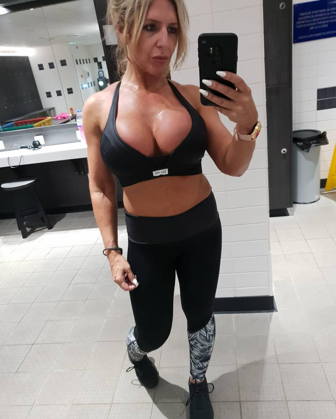 british soccer mom flaunting her stunning rack and fitness body picture 12