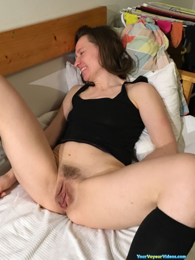 skinny german mature wife shows her tasty big opend cunt in closeup  #6
