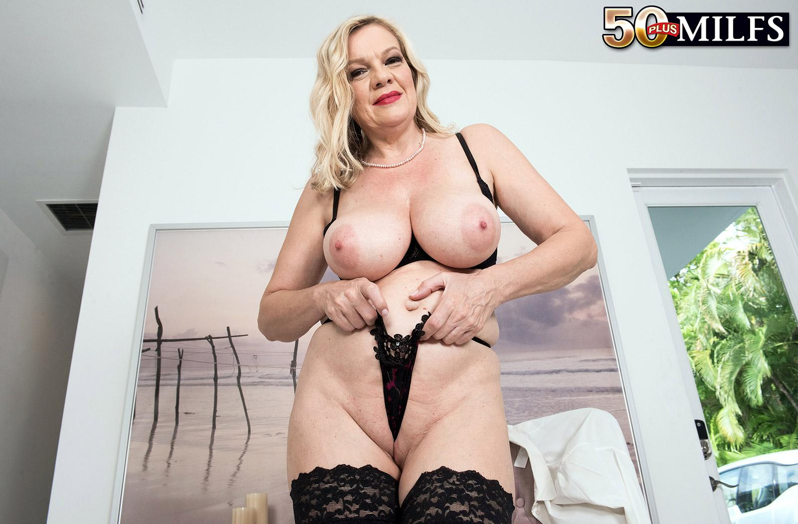 Lena Lewis, a 50 years old busty mature women spreading her legs picture 16