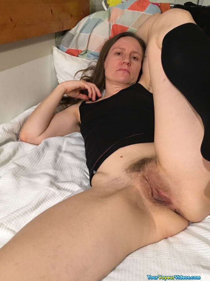 skinny german mature wife shows her tasty big opend cunt in closeup  #3