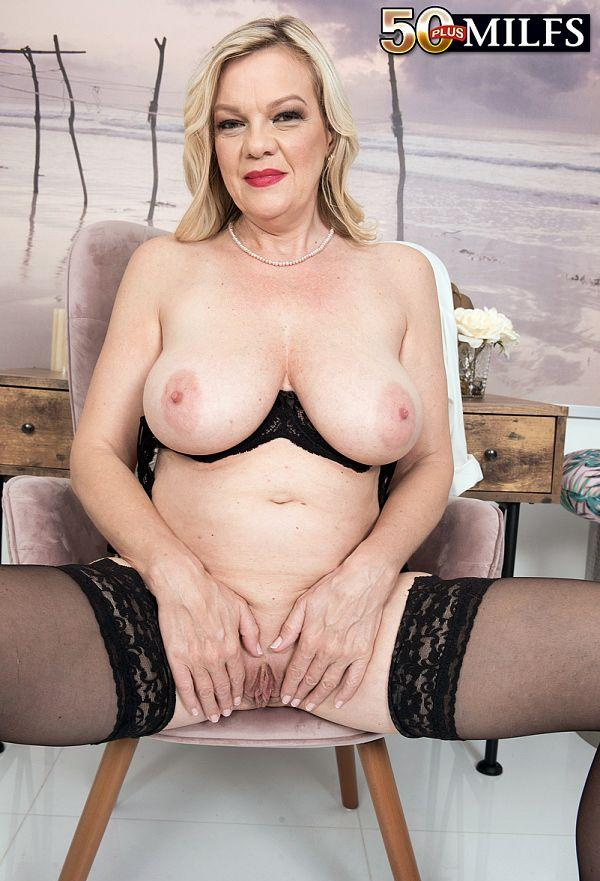 Lena Lewis, a 50 years old busty mature women spreading her legs picture 2