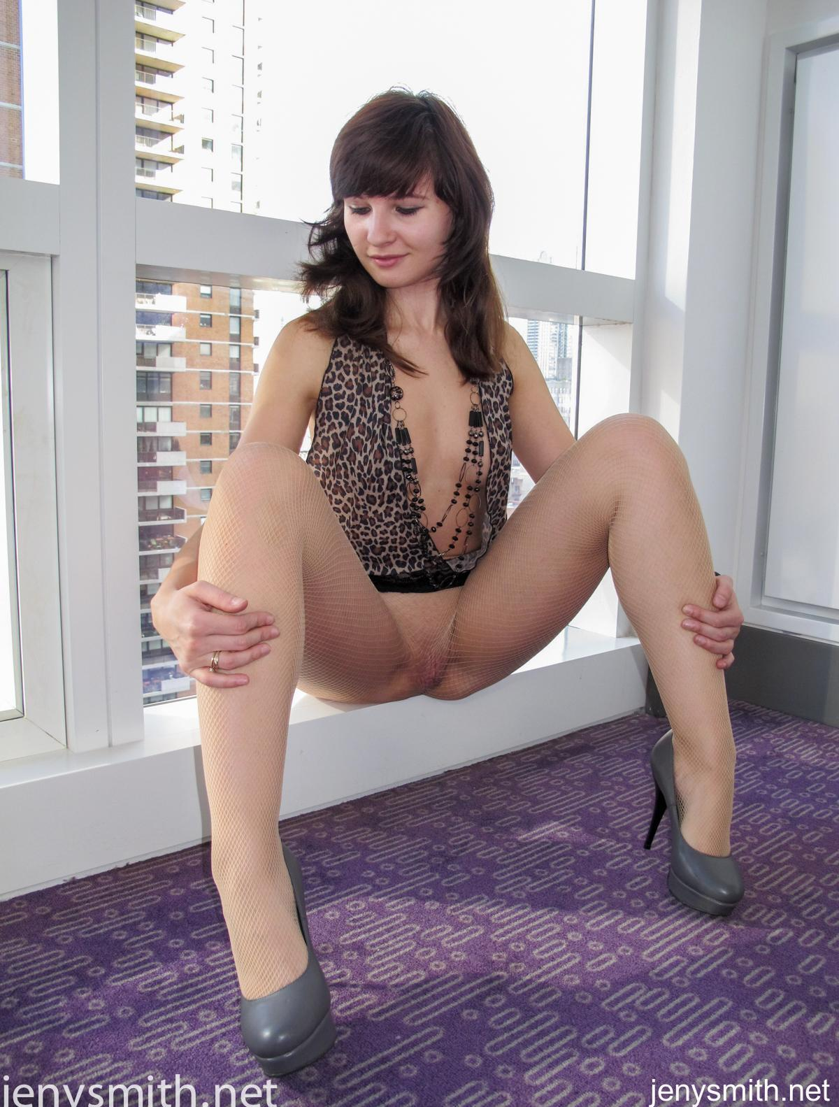 pretty mature lady jeny opens her legs to show her pretty mature twat to the public picture 9