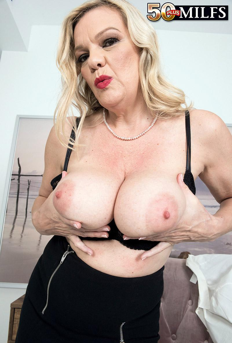 Lena Lewis, a 50 years old busty mature women spreading her legs picture 9