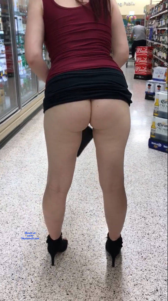 hot wife went shopping without panties #2