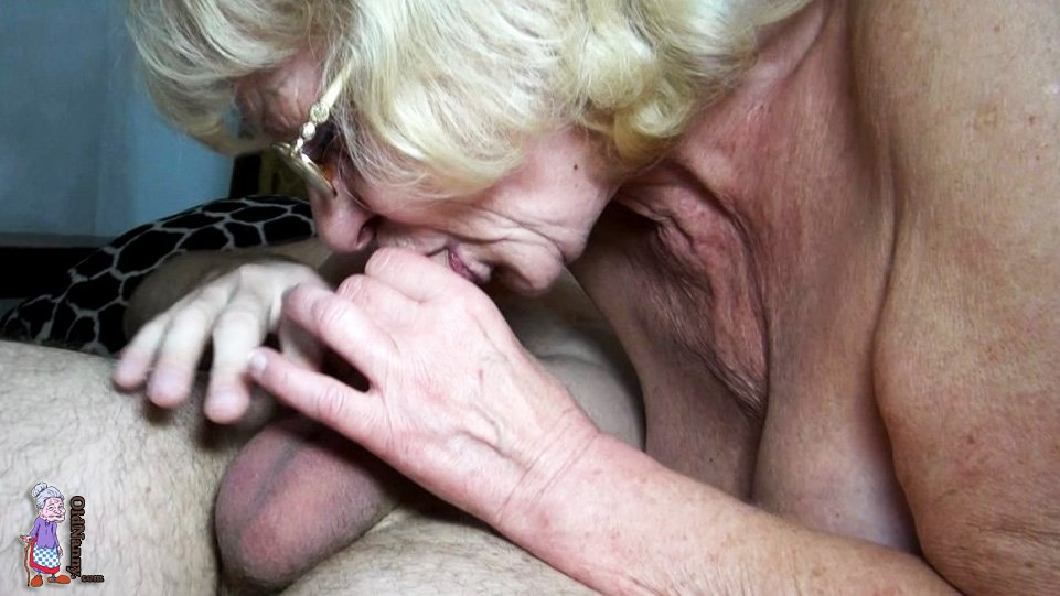 generous granny rewards grandson with skilful deepthroating  #1