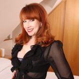 redhead marriage milf has storm free and jerks her pussy with her magic wand picture 3