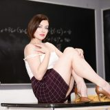strict educator with stocking nylons makes the legs wide picture 7