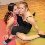 mature yoga teacher is teaching pretty young girl new lessons picture 7