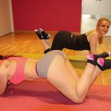 mature yoga teacher is teaching pretty young girl new lessons picture 5