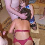 british swinger mature claire serving as cum bucket during a freestyle corona swinger party picture 10
