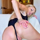 slutty slim wife is expsoing her small hot coochie to tease the therapist picture 7