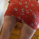perverted mature - upskirt exposure in front of young man picture 3