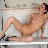 slender mature showing her legs and pussy picture 13
