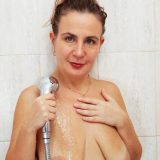 sweet mature alisia rinsing her hairy triangle inside the shower picture 14