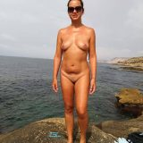 sexy german lady flashing her naked body at the beach  picture 5